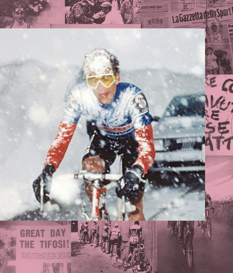 Andy Hampsten on the Gavia