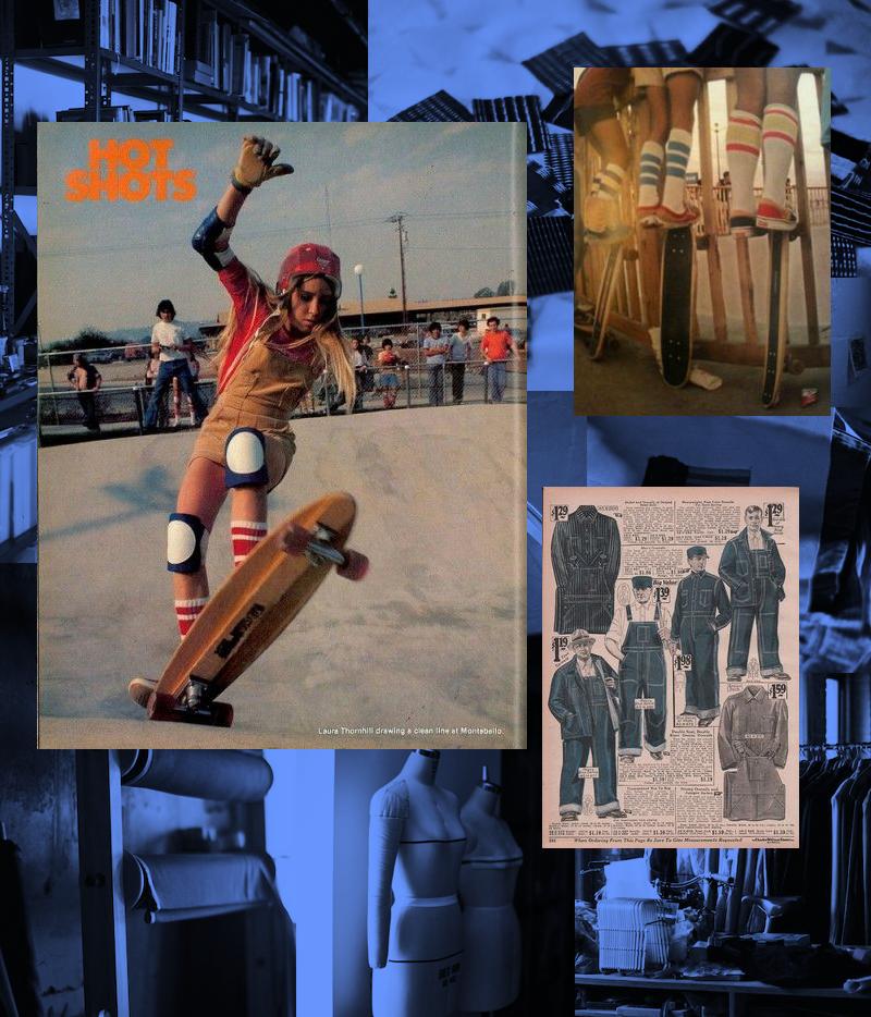 Vintage denim and skater style