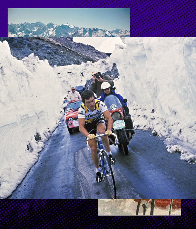 Hinault Braves The Snow