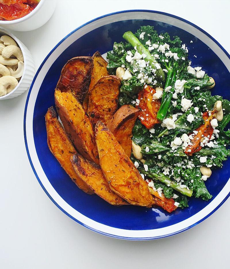 Sweet Potato and Feta Salad